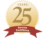 25 Years Service Excellence